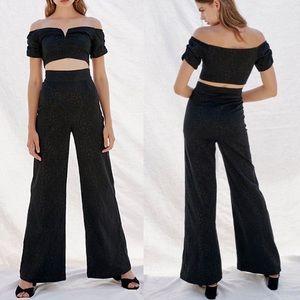NWT Free People Soul Mate Crop Top Pants Set